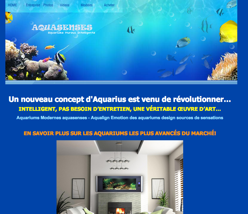 aquariums modernes