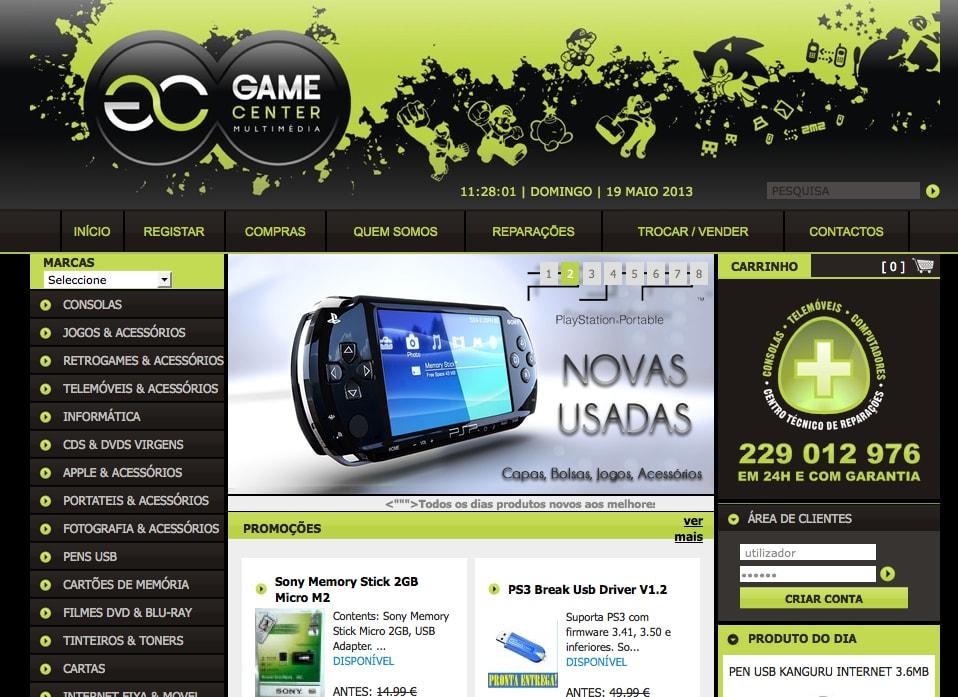 Loja Multimédia – gamecenter.com.pt