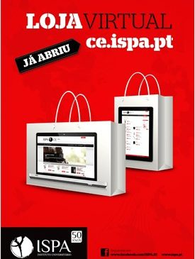 Encontra-se activa a loja virtual do ISPA
