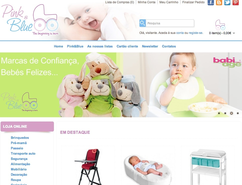 Loja de Bebes – Pink and Blue
